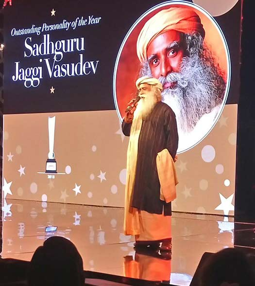 Image result for hello hall of fame awards 2018  Sadhguru Jaggi Vasudev image