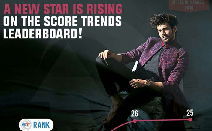 Kartik Aryan climbs to top 25 on Score Trends India chart