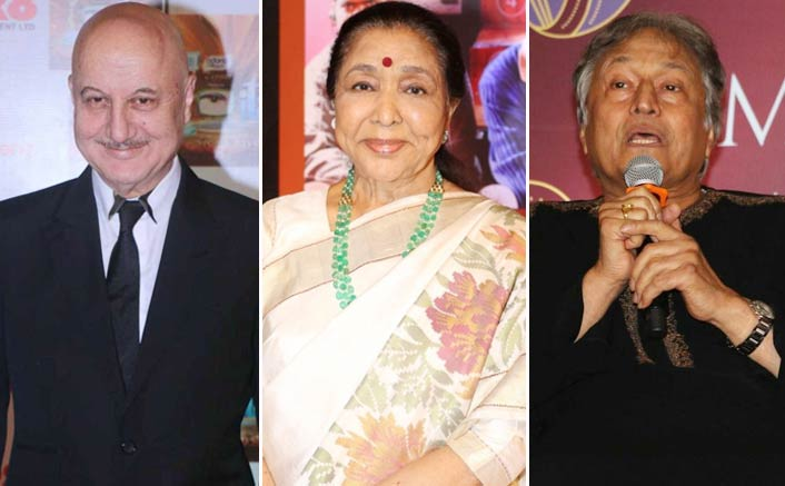 Ustad Amjad Ali Khan, legendary singer Asha Bhosle and veteran actor Anupam Kher