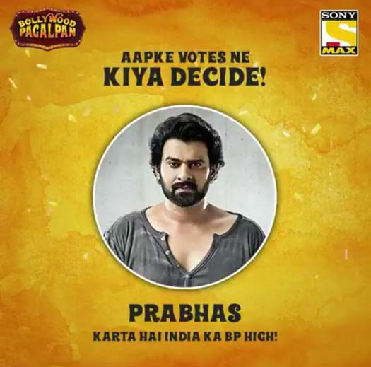 India votes Prabhas as the actor responsible for increasing the nation's BP