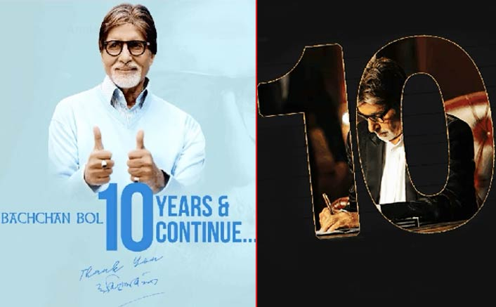 Mr Amitabh Bachchan completes 10 iconic years of his blog today!