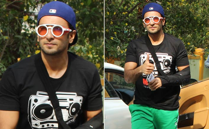 Ranveer Singh Spotted At Saloon Bandra