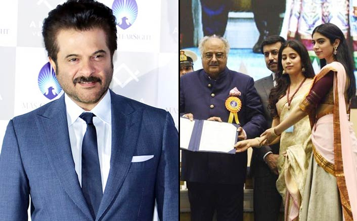 Anil proud to see Janhvi, Khushi accept honour for Sridevi
