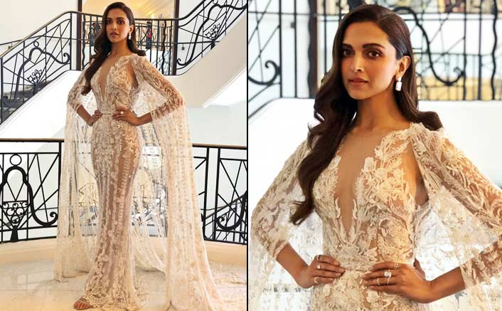 Deepika looks 'angelic' in white caped gown at Cannes
