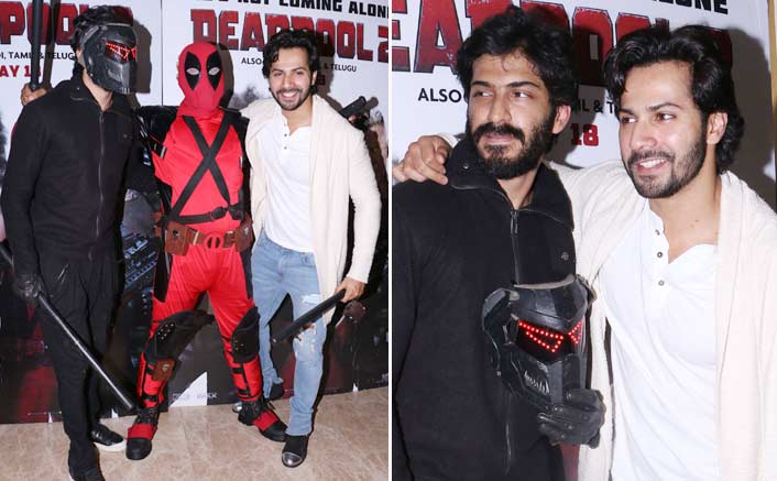 Varun Dhawan meets Bhavesh Joshi Superhero at the premiere of Deadpool 2
