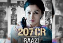 Alia Bhatt - Vicky Kaushal starrer Raazi directed by Meghna Gulzar collects 207 crore worldwide.