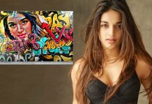 A fan paints a wall with Nidhhi Agerwal's graffiti art!