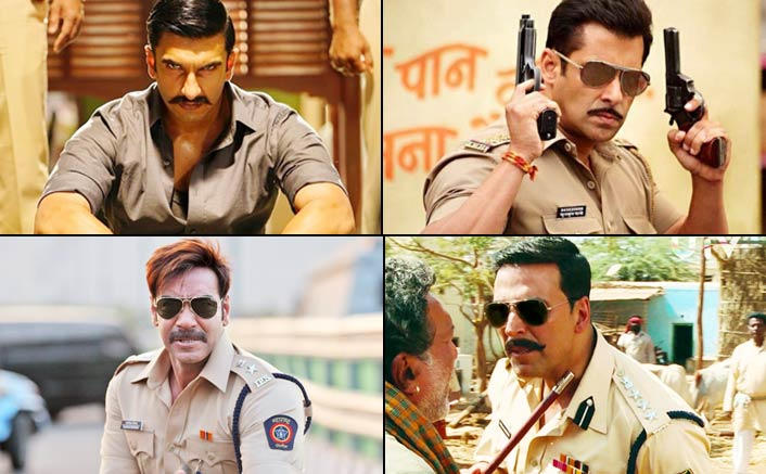 Simmba New Look: Comparing Ranveer Singh With Other Super Cool Moustached Officers! VOTE Your Favourite