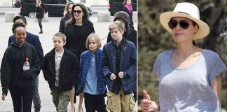 Angelina Jolie enjoys with children after custody agreement