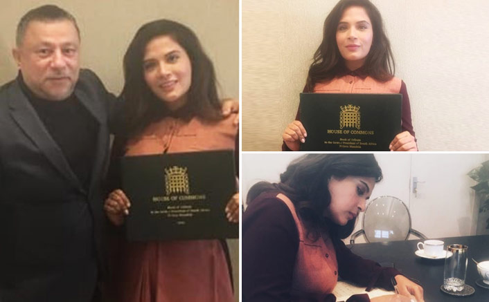 Richa Chadha joins the likes of Barack Obama and Will Smith, to feature in The House of Commons Book of Tribute to the late Nelson Mandela!