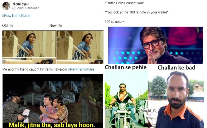Twitterati Comes Up With Bollywood Memes About New Traffic