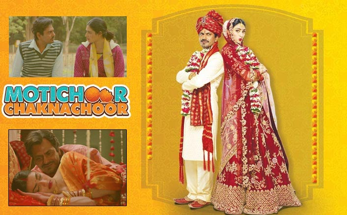 Image result for Poster Release for 'Motichoor Chaknachoor' takes selfies in marriage with Nawazuddin