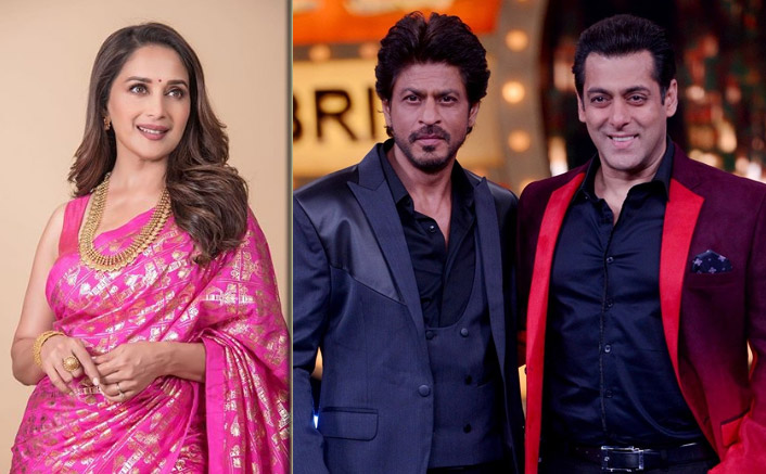 when shah rukh khan and salman khan came together to deliver a surprise success with madhuri dixit 001