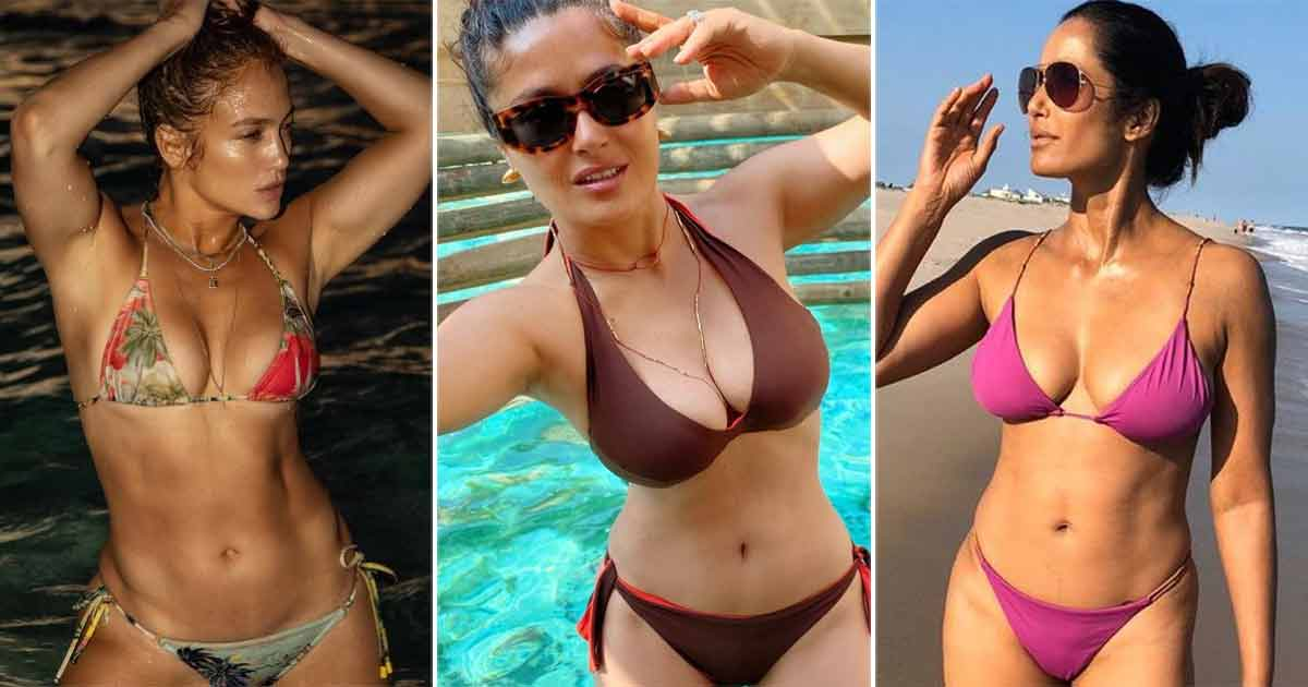 Hollywood stars in bikinis International Bikini Day 10 Sensational Looks Of Yesteryear Actresses From Salma Hayek To Courteney Cox Which Are Too Hot To Handle Even Today